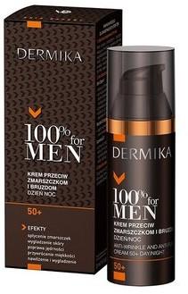 Dermika DERMIKA 100% FOR MEN KREM 50+ PRZECIW ZMARSZCZKOM I BRUZDOM NA DZIEŃ I NOC 50ml