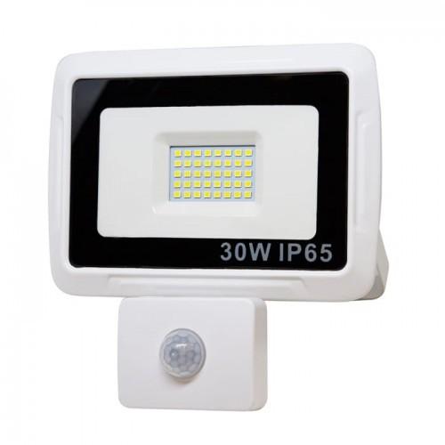 CANLED Naświetlacz LED 30W z czujnikiem ruchu biała neutralna NSYB-PIR-30W-N