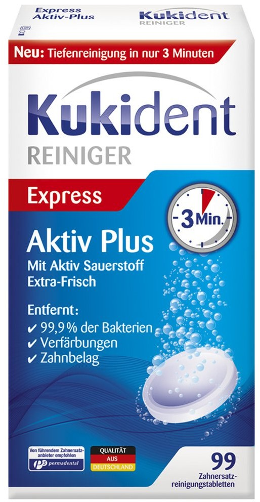 Reckitt Benckiser Healthcare Deutschland Kukident Aktiv Plus Tabletki do czyszczenia protez 99 szt.