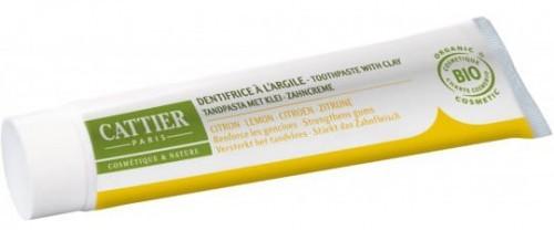 CATTIER (kosmetyki) Pasta do zębów z glinką i olejkiem cytrynowym remineralizująca EKO - Cattier - 75ml BP-3283950040051