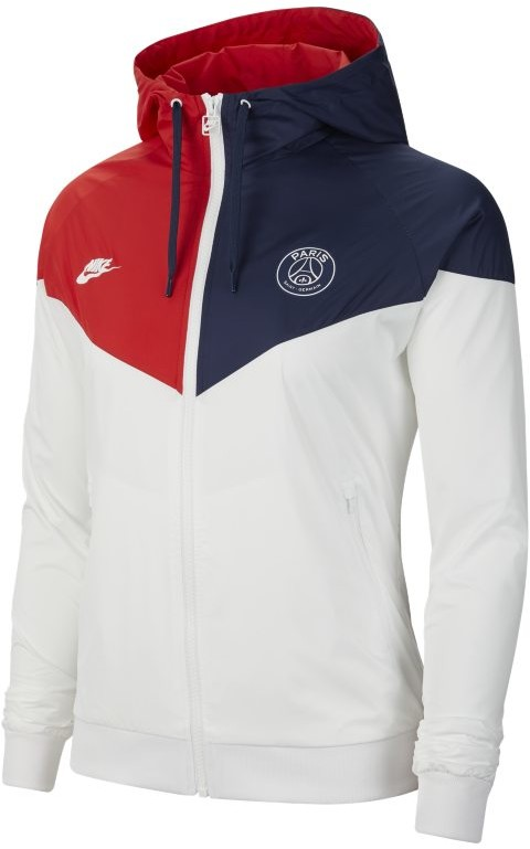 Nike Kurtka damska Paris Saint-Germain Windrunner - Biel CI2088-104