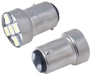 Vision Żarówka VISION P21/5W BAY15d 12V 5x 5050 SMD LED biała 2 szt WE24-9844