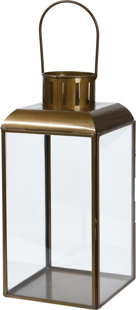 Home Styling Collection Metalowy lampion ANTIQUE GOLD latarenka na świecę kolor złoty B07DW4VTY3