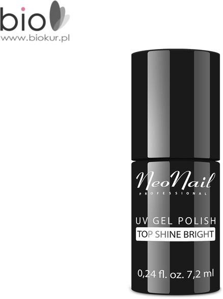 Neonail Lakier Hybrydowy TOP SHINE BRIGHT bez przemywania) NeoNail 7,2 ml 6354-7