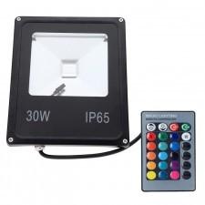PREMIUM Halogen, naświetlacz LED RGB 30W + pilot LUX06157