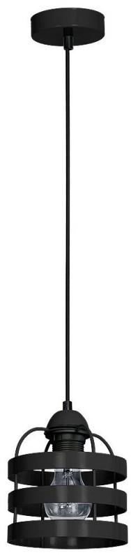 Decoland Żyrandol TUBE 1xE27/60W/230V czarny