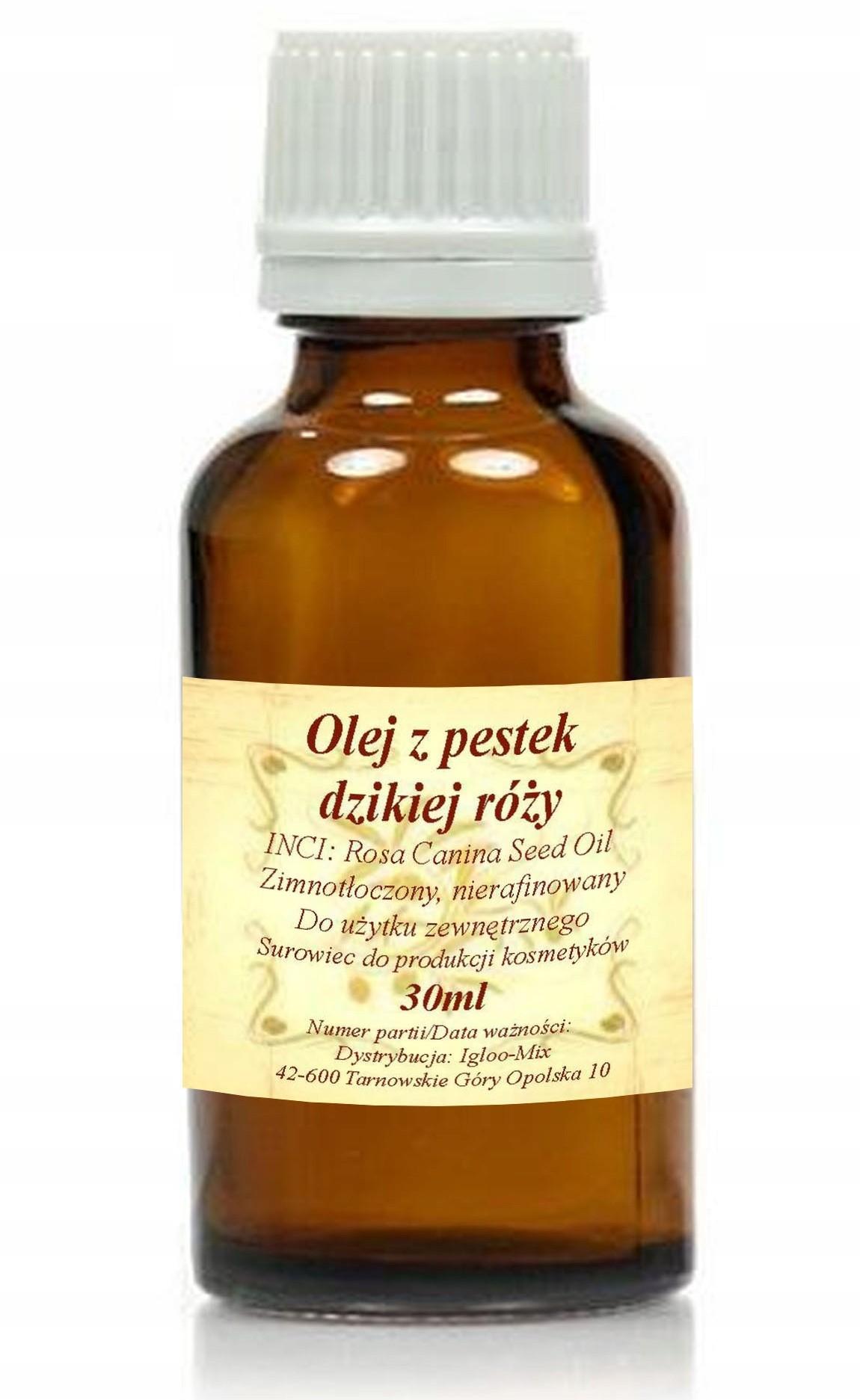 Olej z pestek Dzikiej Róży 30ml zimnotłoczony