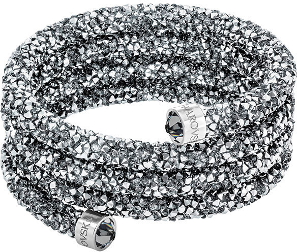 Swarovski Crystaldust Wide Bangle, Gray Gray Stainless steel