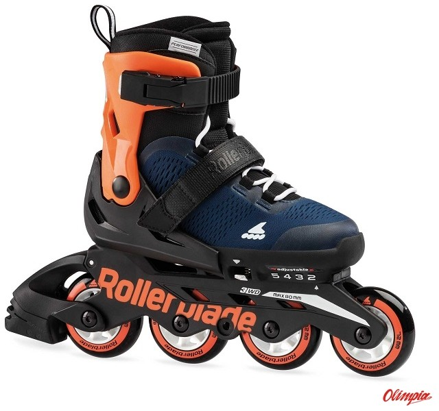 Rollerblade Rolki Microblade 2021 midnight blue/warm orange 07062100 174