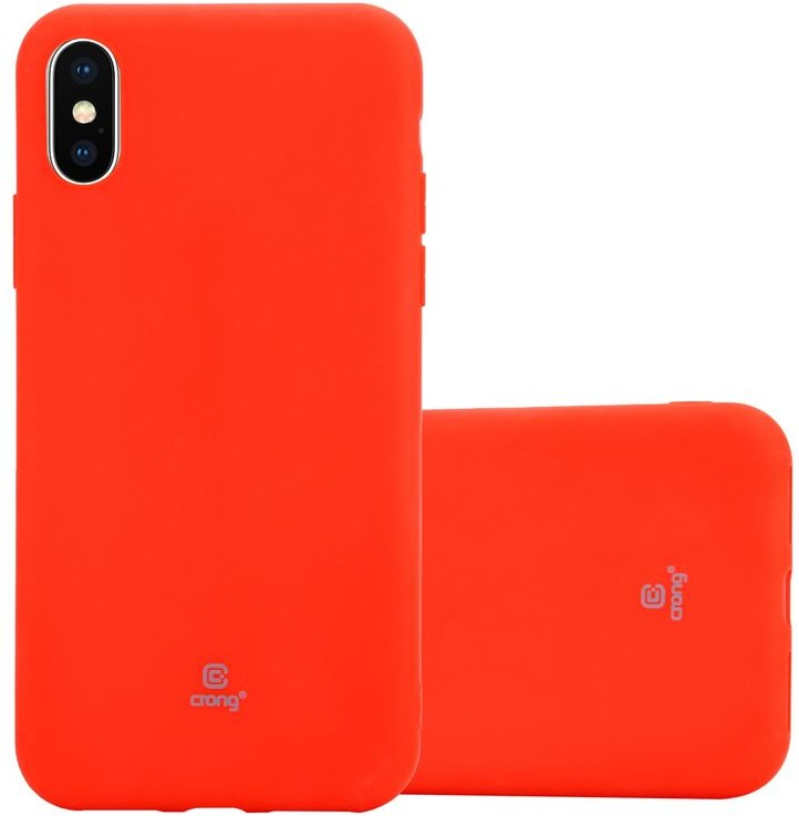 crong Crong Soft Skin Cover Etui iPhone Xs X czerwony