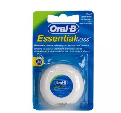 Oral-B Woskowana nić dentystyczna Mięta (50 m) - Oral-B Essential Floss Woskowana nić dentystyczna Mięta (50 m) - Oral-B Essential Floss