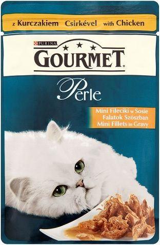 Purina Kot Gourmet Perle Fileciki w Smakowitym Sosie z kurczakiem 85g
