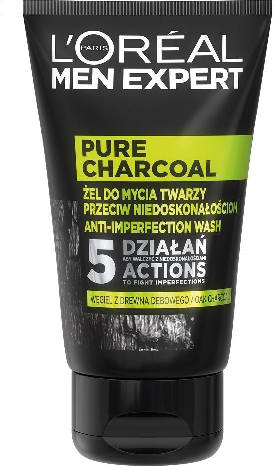 L'Oreal Paris L'Oreal Paris Men Expert Pure Charcoal żel do mycia twarzy przeciw niedoskonałościom 100ml