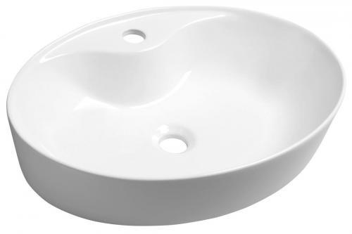 Sapho MARIANA umywalka nablatowa 58x41,5 cm owalna z otworem na baterię AR483