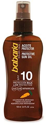 Babaria babaria spray do olejów opalających marchewka LSF 10 100 ml