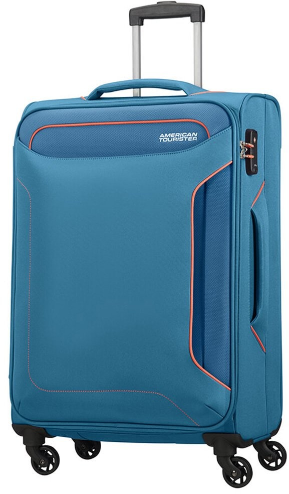 4329c1882535c Samsonite AT by Średnia walizka AT HOLIDAY HEAT 106795 Niebieska - niebieski