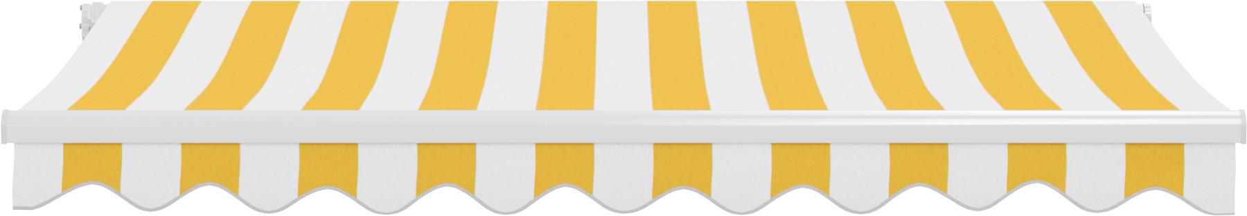 Jarolift Markiza tarasowa, Gotowa, BASIC, żółto-biała, 250x150 cm