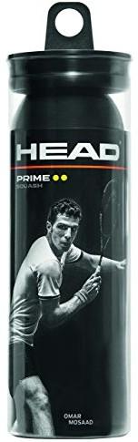 Head Unisex Prime 3 Tube DYD piłki do squasha (3 sztuki), czarne, jeden rozmiar (287316)