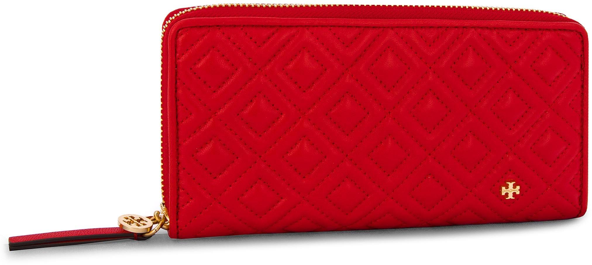 c938058ea0c52 Tory Burch Duży Portfel Damski TORY BURCH - Fleming Zip Continental Wallet  46542 Brilliant Red 612