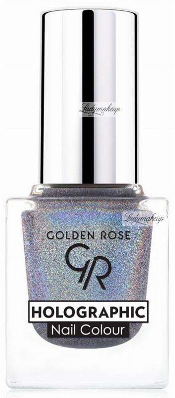 Golden Rose HOLOGRAPHIC NAIL COLOUR - Holograficzny lakier do paznokci - 04 GOLNHD04