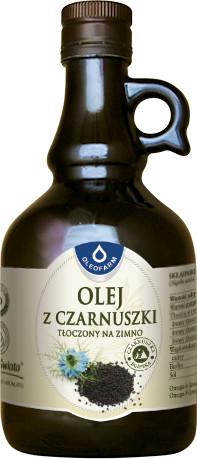 Oleofarm Olej z Czarnuszki Tłoczony na Zimno 500ml -