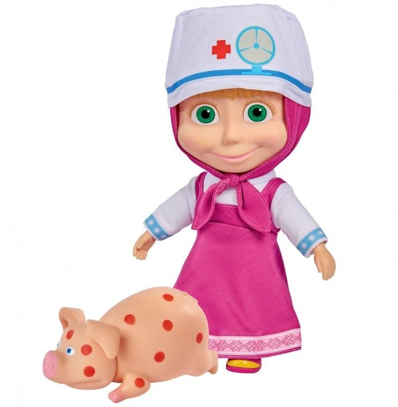Simba Lalka Masza w Stroju Doktora z Chorą Świnką 9301081