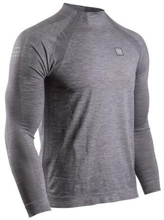 CompresSport koszulka z długim rękawem TRAINING TSHIRT szara