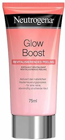 Neutrogena Glow Boost rewitalizujący peeling do twarzy z kwasem migdałowym i naturalnymi kuleczkami peelingującymi, dla czystej i równomiernej skóry (1 x 75 ml)