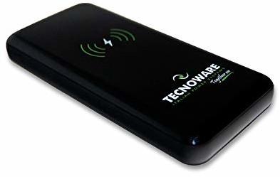Samsung Tecnoware Power Systems Tecnoware bezprzewodowa ładowarka do baterii z 1 portem USB - Powerbank 10 000 mAh, szybka ładowarka z funkcją Power Delivery - do smartfonów i tabletów (iPhone i - ładowanie przez mikrofon U FPB17608