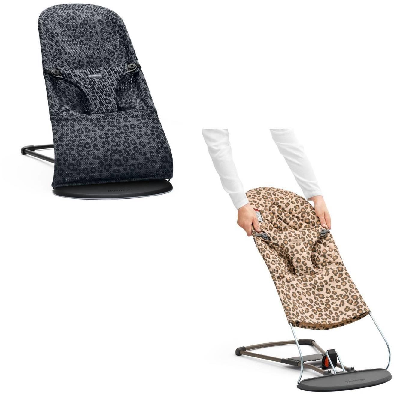 BABYBJORN leżaczek BLISS MESH - Antracytowy/Leopard + poszycie do leżaczka Balance Bliss Beż/Leopard, Cotton scandinavian-baby-9375-0