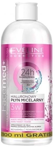 Eveline Facemed+ Hialuronowy płyn micelarny 3w1 500ml 42591-uniw