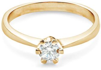 Savicki Pierścionek zaręczynowy żółte złoto, diament 7103