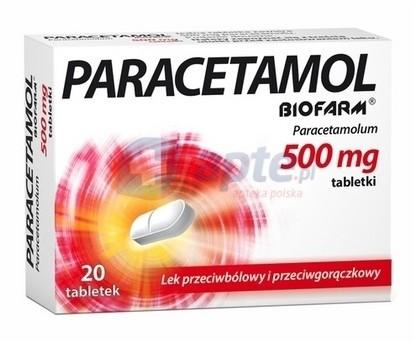 Biofarm Paracetamol 500mg x20 tabletek
