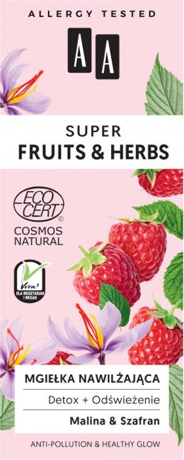 Oceanic Super Fruits&Herbs Nawilżająca mgiełka malina/szafran 50ml 52807-uniw