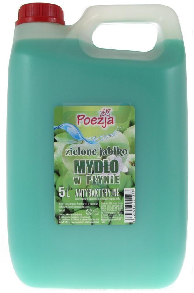 Poezja Antybakteryjne mydło w płynie Zielone Jabłko 5 L