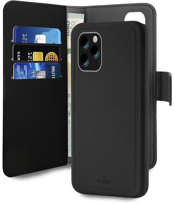 PURO Wallet Detachable Etui 2w1 iPhone 11 Pro czarny IPCX19BOOKC3BLK