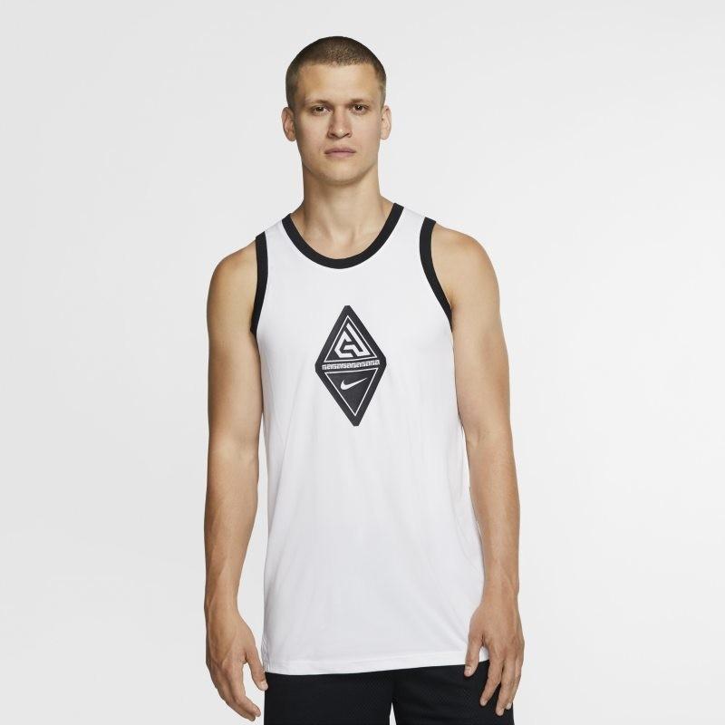 Nike Męska koszulka bez rękawów do koszykówki Giannis - Biel CD9556-100