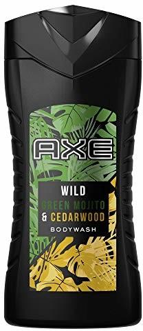 Axe Wild zapewnia długotrwały zapach Green Mojito i Cedarwood bez soli aluminiowych, 1 sztuka Żel pod prysznic