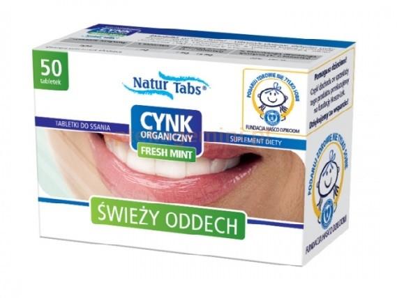 Hasco-Lek Cynk organiczny Naturtabs FreshMint 50 tabletek