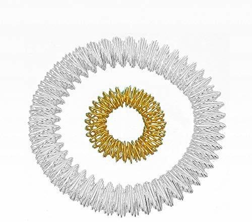 Really Leasure Power-ring zestawbransoletka (srebrny) + złoty pierścionek z diamentem (mały)/akupressur ring/ring do masażu/bransoletka/bransoletka do masażu do masażu pierścionek srebrny