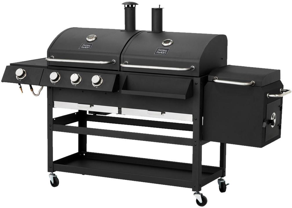 BURNS & BARKLES Grill węglowy/gazowy zwędzarnią All in one 310