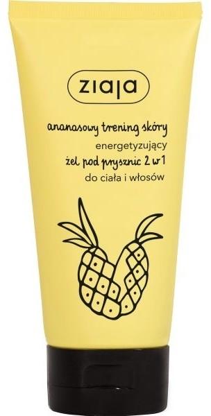 Ziaja ananasowy trening skóry energetyzujący żel pod prysznic 2w1 do ciała i włosów 160ml