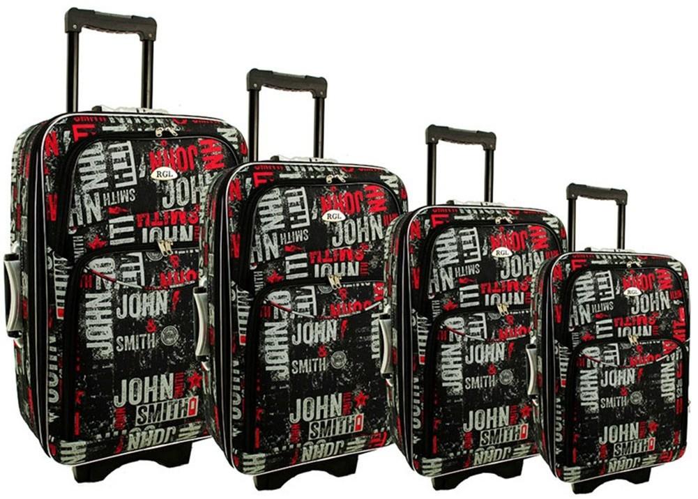 d068357975ad6 PELLUCCI Mała kabinowa walizka PELLUCCI 773 S - Czarno Szaro Czerwona -  czarny / szary /
