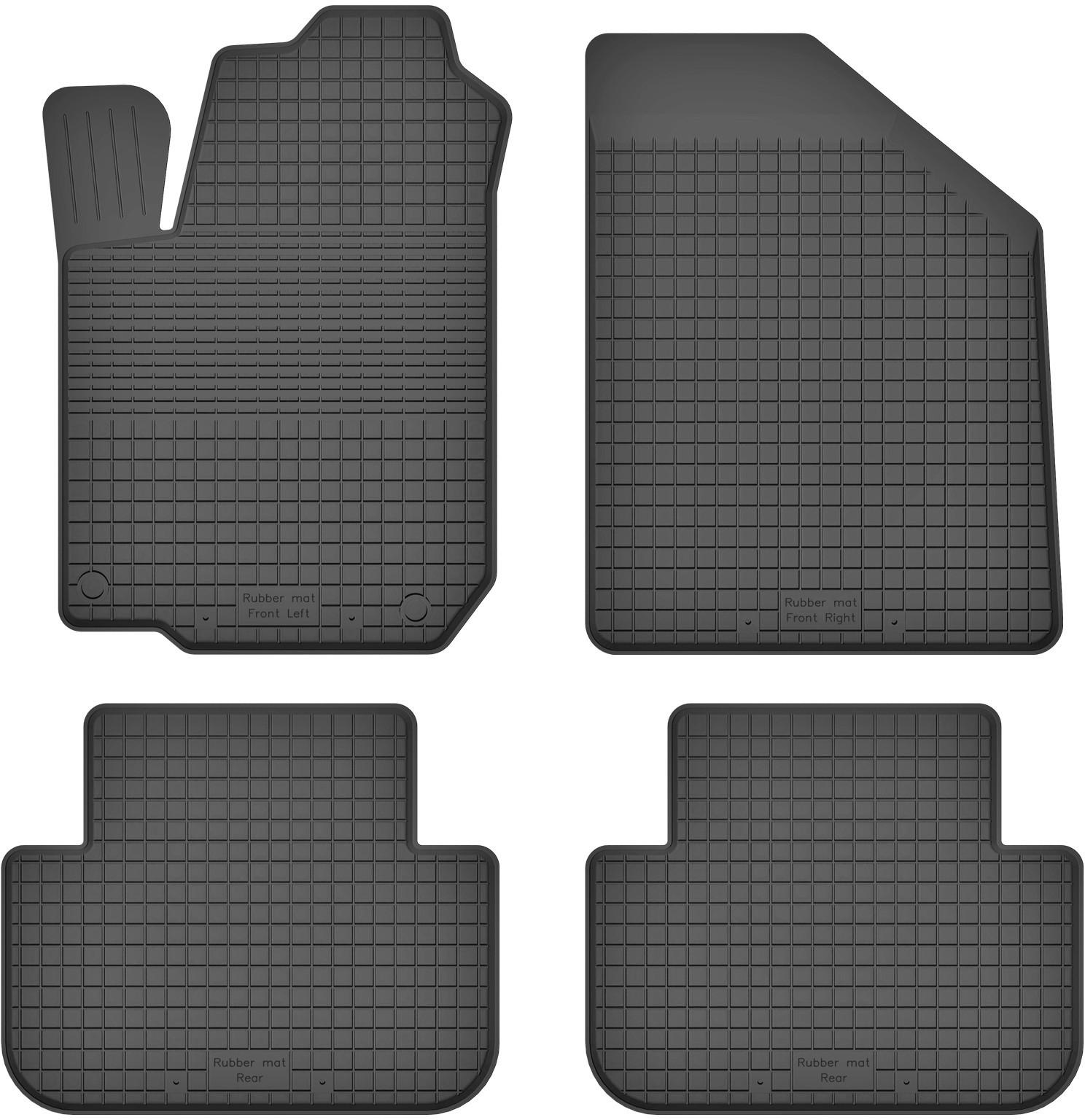 MotoHobby Peugeot Partner II (od 2008) -dywaniki gumowe korytkowe