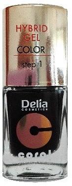Delia Cosmetics Cosmetics, Coral Hybrid Gel, lakier do paznokci nr 26 czarny, 11 ml