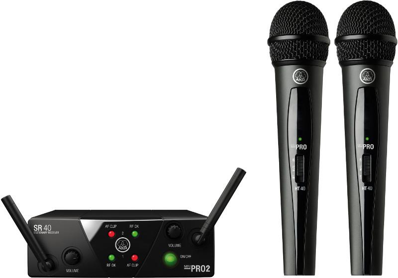 AKG WMS-40 MINI 2 DUAL Vocal Set US25 A/C - mikrofon bezprzewodowy podwójny (537.500 i 539.300) 81473