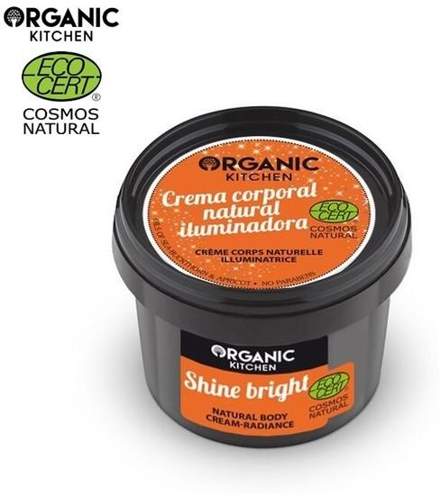 Organic Kitchen Kitchen Świeć jasno Naturalny krem do ciała promienność 100ml