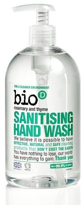 BIO-D Antybakteryjne mydło do rąk rozmaryn i tymianek 500 ml