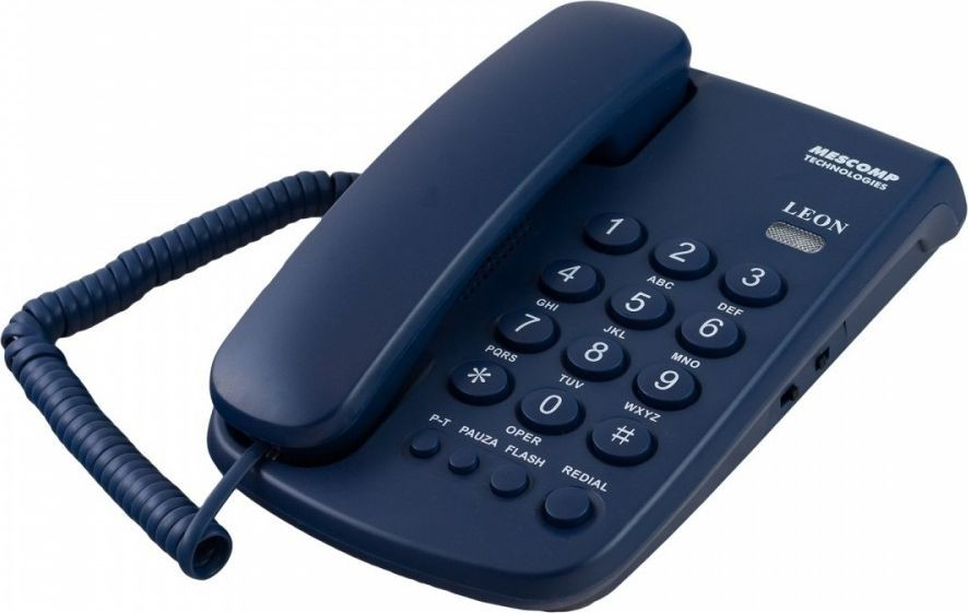 Mescomp Mesmed Telefon stacjonarny MT 508 Leon czarny TEMEESPMT508000