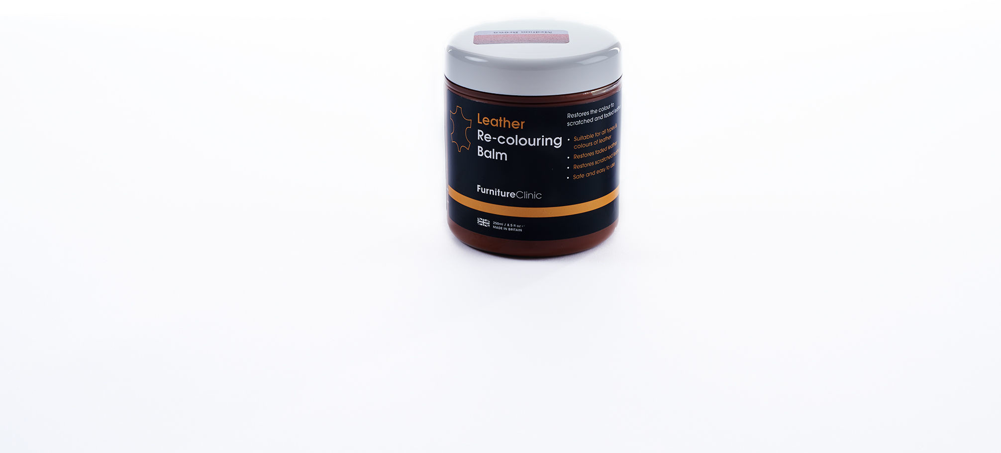 Furniture Clinic Leather Re-Colouring Balm balsam koloryzujący LIGHT GREY 250ml FUR000016